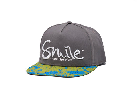 Smile Hat | Mahi Oh Snap Steel | White - Smile Share The Vibe - 1