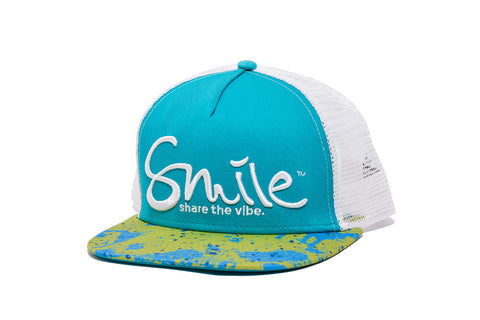 Smile Hat | Mahi Oh Snap Teal | White - Smile Share The Vibe - 1
