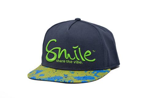 Smile Hat | Mahi Oh Snap Navy | Lime - Smile Share The Vibe - 1