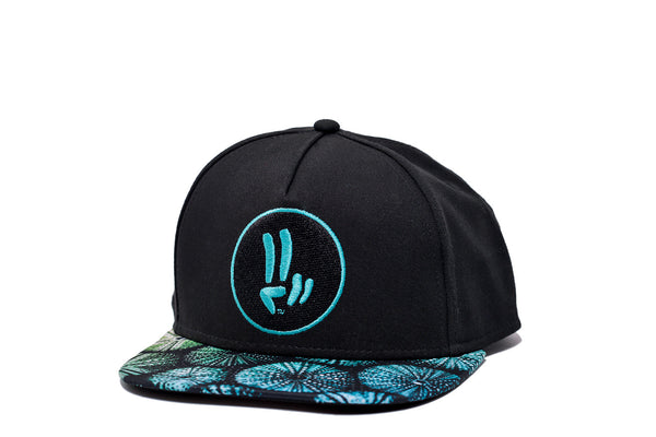 Smile Hat | Sea Urchin Peace Black | Blue - Smile Share The Vibe - 1