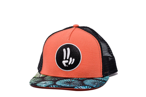 Smile Hat | Sea Urchin Peace Coral | Black - Smile Share The Vibe - 1