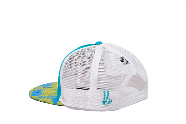Smile Hat | Mahi Oh Snap Teal | White - Smile Share The Vibe - 3