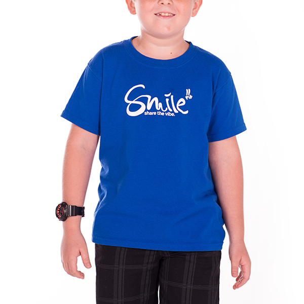 Smile Kids | Classic T-shirt | Ocean Blue - Smile Share The Vibe