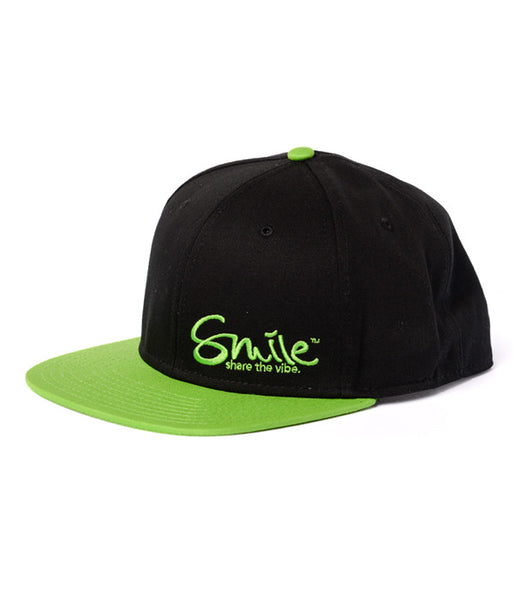 Smile Hat | Classic Black | Lime - Smile Share The Vibe