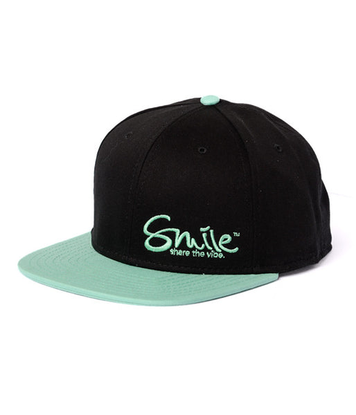 Smile Hat | Classic Black | Seafoam - Smile Share The Vibe