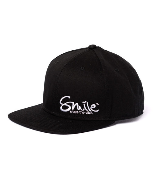 Smile Hat | Classic Black | White - Smile Share The Vibe