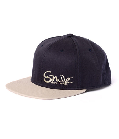 Smile Hat | Classic Navy | Tan - Smile Share The Vibe