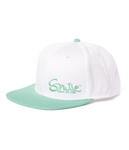 Smile Hat | Classic White | Seafoam - Smile Share The Vibe