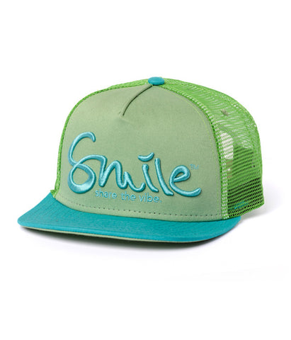 Smile Hat | Oh Snap Kiwi | Aqua - Smile Share The Vibe