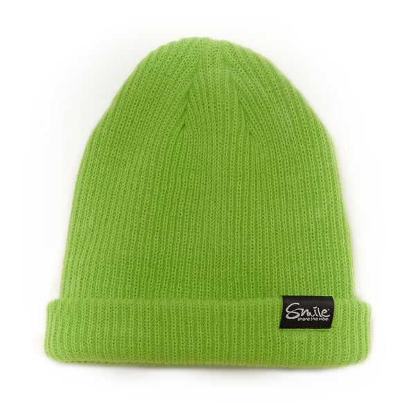 Smile Beanie | Lime - Smile Share The Vibe - 1