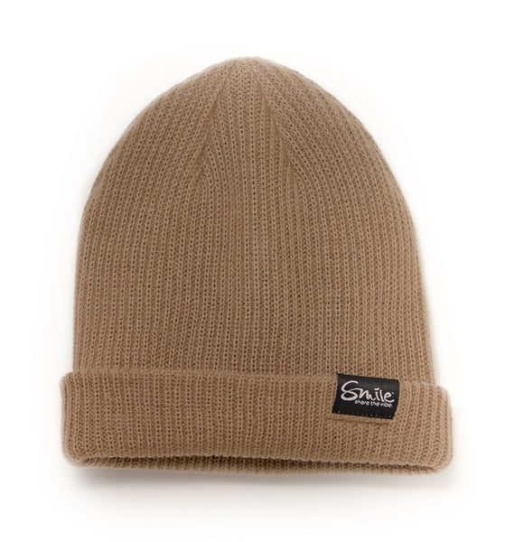 Smile Beanie | Tan - Smile Share The Vibe - 1