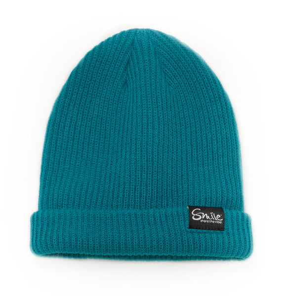 Smile Beanie | Teal - Smile Share The Vibe - 1
