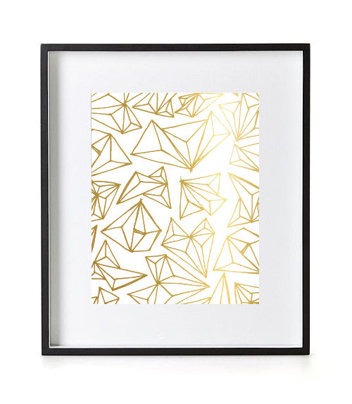 GOLD FOIL GEOMETRIC PRINT - White Smooth Card