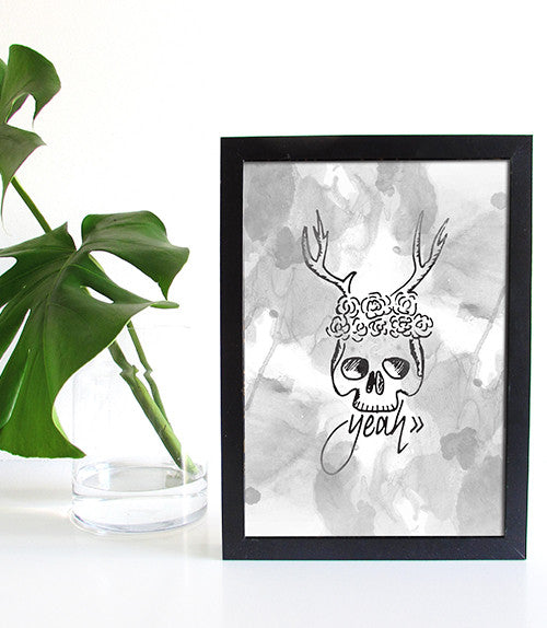 *LIMITED EDITION* Watercolour Skull Print