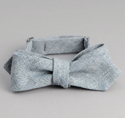light indigo bow tie