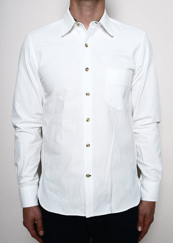 Rogue Territory White Chambray Traveler Shirt