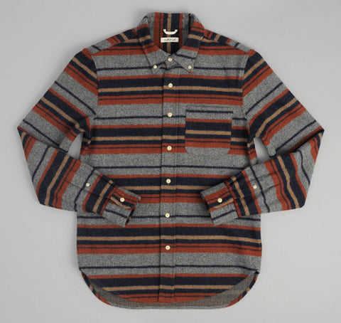 Wool/Cotton Blend Button-Up