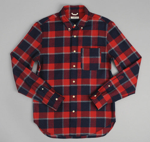 Indigo Flannel Button-Up