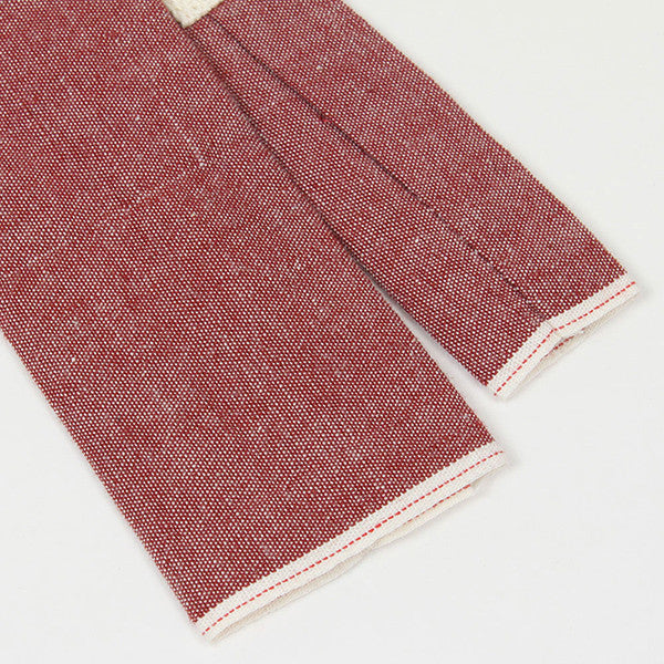 Red Chambray Square End Tie
