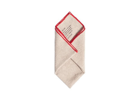 Washed Linen Pocket Square
