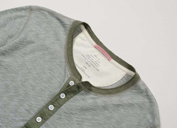 Olive Long Sleeve Henley