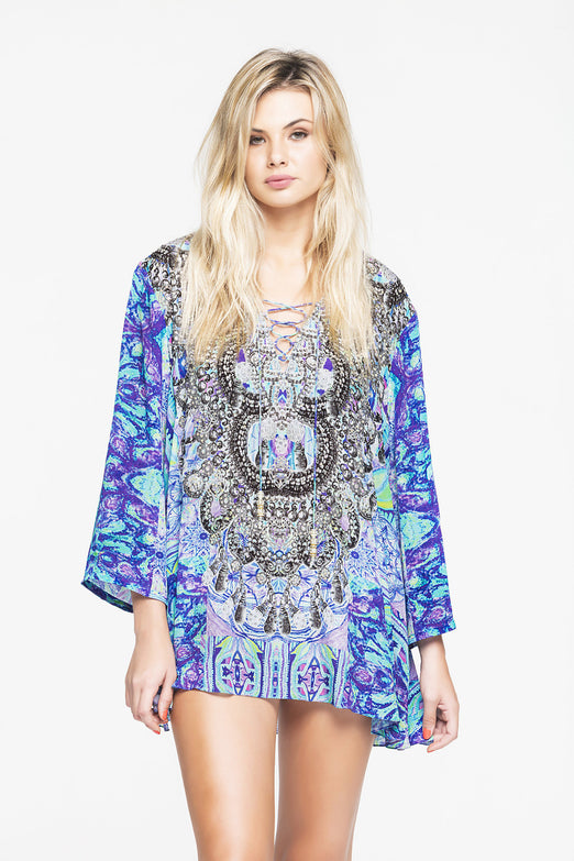 BED OF FLOWERS TOP W SLEEVES