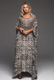 MERYL ROUND-NECK LONG KAFTAN