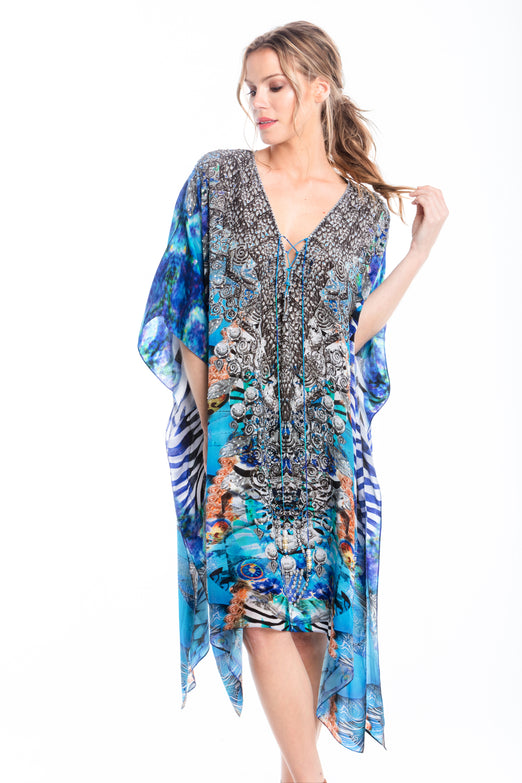 INDECENT BLUE SHORT KAFTAN