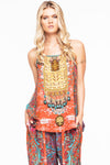MANDALA ROUND NECK CAMI TOP