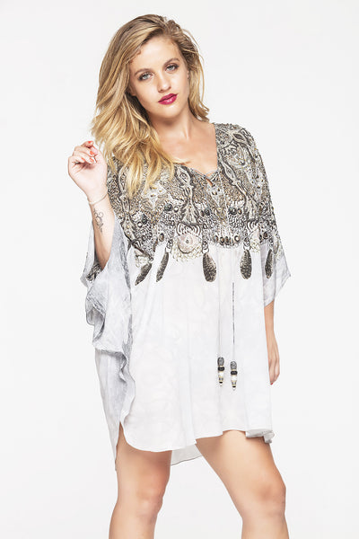 WHITE CHEROKEE BUTTERFLY TOP