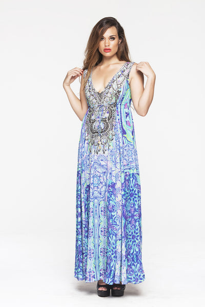 BED OF FLOWERS MAXI DRESS