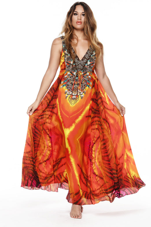 TROPICAL THUNDER MAXI DRESS