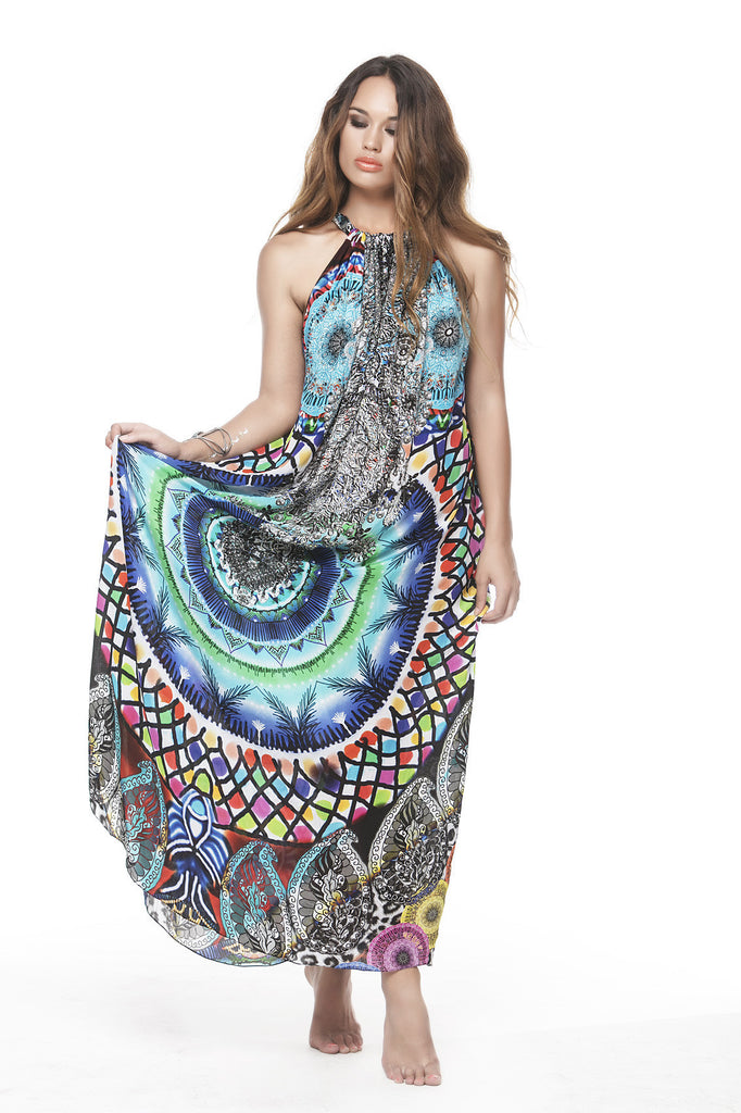 CIRCLE OF LIFE DRAWSTRING DRESS