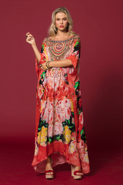 BE MINE ROUND-NECK LONG KAFTAN