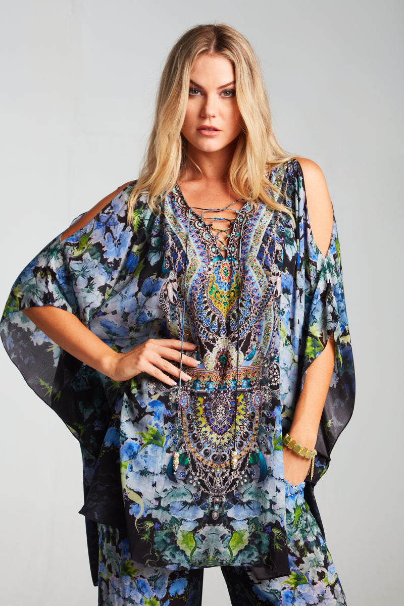 TRUE REFLECTIONS BUTTERFLY TOP W SLIT