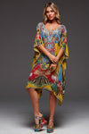 REFUSE TO BE ORDINARY ROUND-NECK SHORT KAFTAN