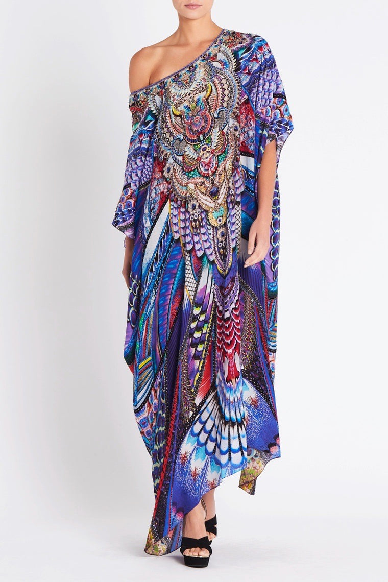731b283dc35 FLY WITHOUT FEATHERS ROUND-NECK LONG KAFTAN