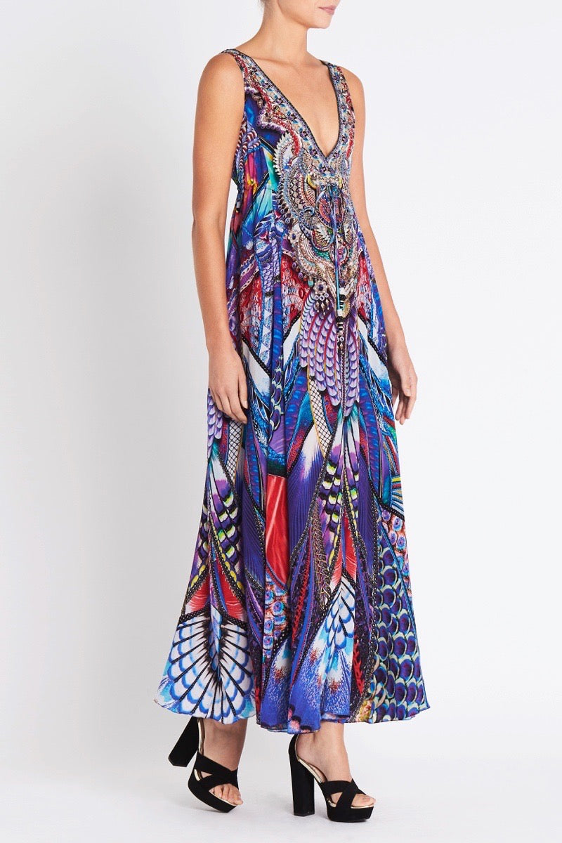 FLY WITHOUT FEATHERS MAXI DRESS