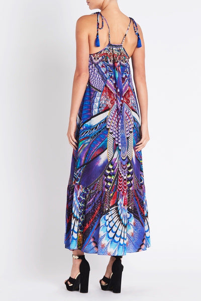 FLY WITHOUT FEATHERS SHOE STRING MAXI DRESS