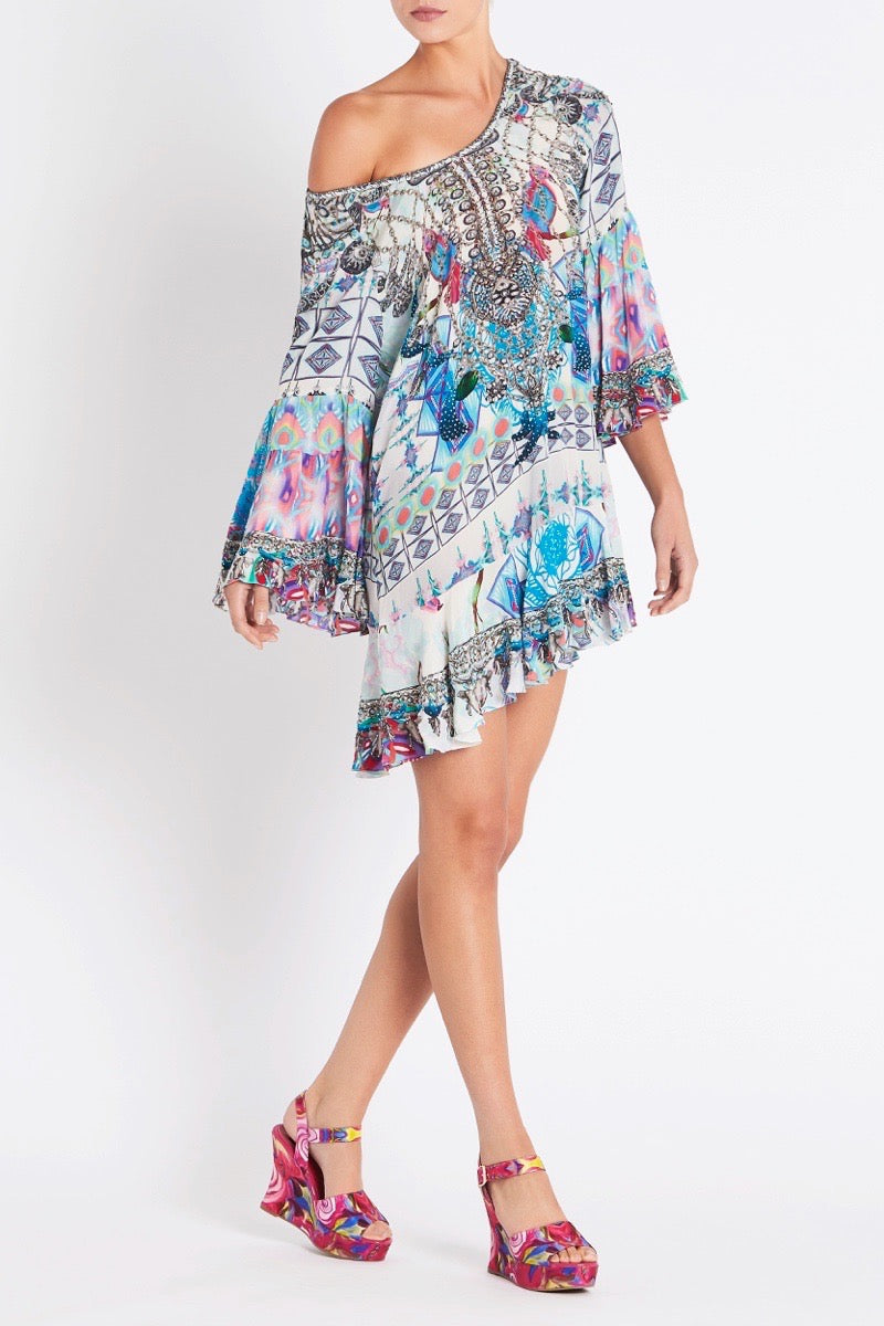 FREE AS A BIRD FRILL DRESS
