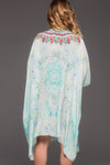 SUMMER DREAM ROUND-NECK SHORT KAFTAN