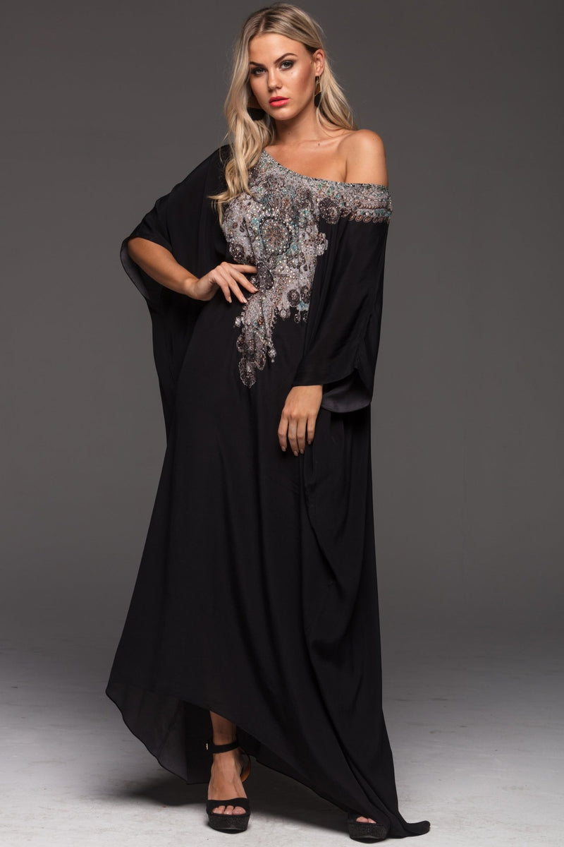 ALICE ROUND-NECK LONG KAFTAN - Czarina