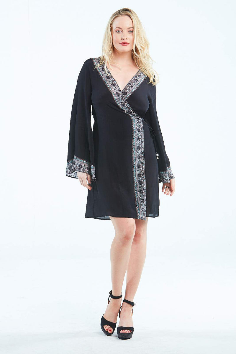 ALICE SHORT WRAP DRESS - Czarina