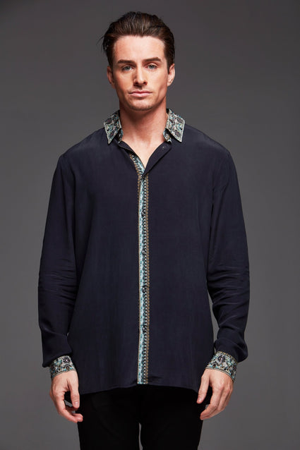 Alice Silk Men's Shirt - Czarina