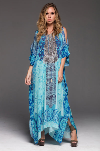 SAIL AWAY LONG KAFTAN W SLIT