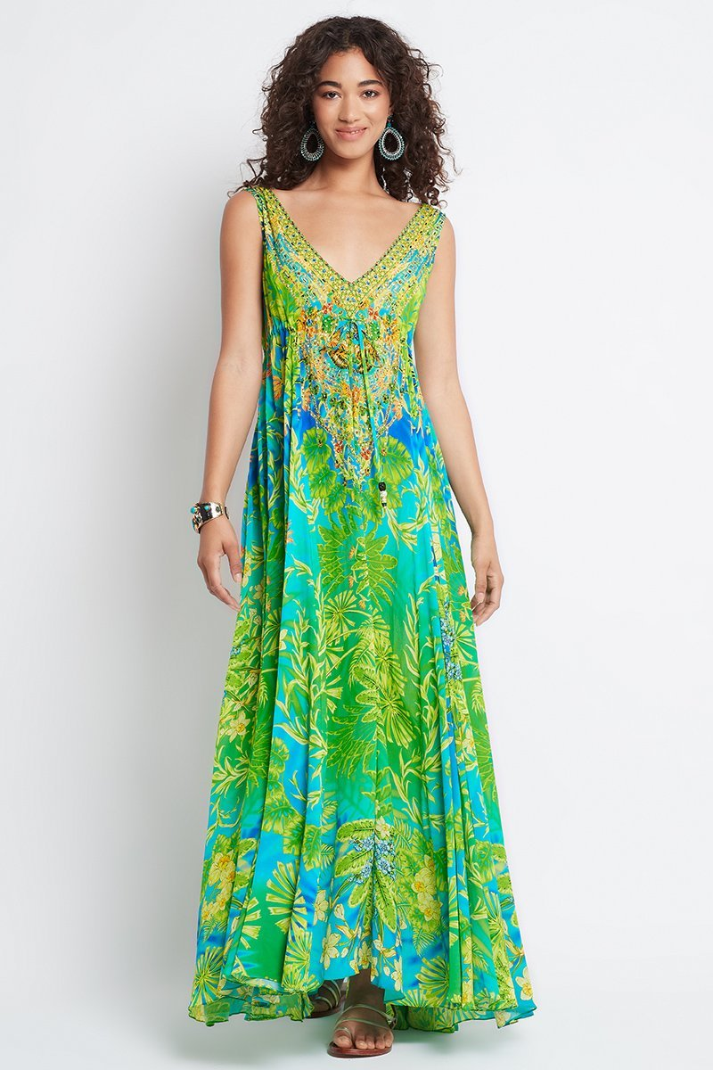 BETWEEN THE RAINDROPS MAXI DRESS - Czarina