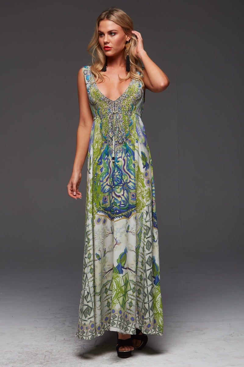 BIRDS OF PEACE MAXI DRESS - Czarina