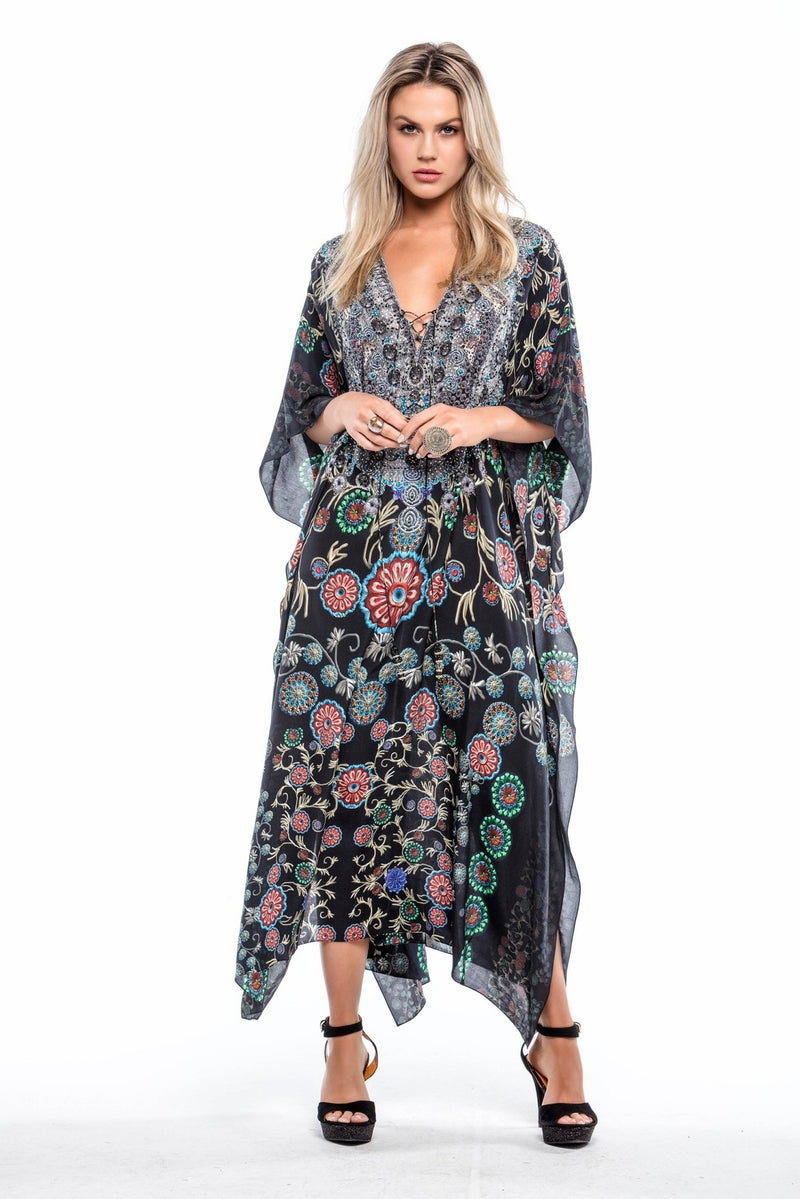 BLACK MILLEFORI MEDIUM KAFTAN - Czarina
