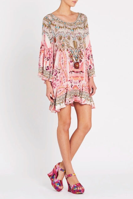 Bohemian Blush Frill Dress - Czarina