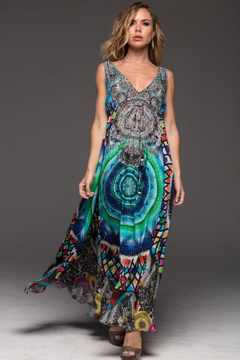 CIRCLE OF LIFE MAXI DRESS - Czarina